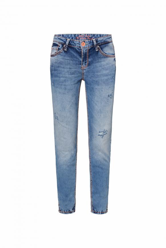 Jeans MI:RA mit Destroy-Effekten dark blue aged