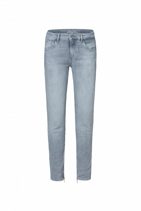Jeans MI:RA mit Used-Optik und Back Prints light grey