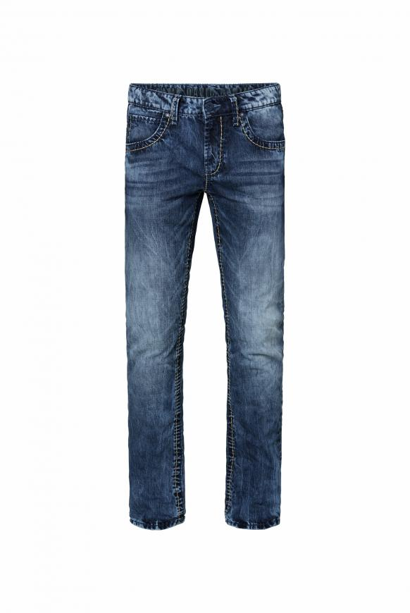 Jeans NI:CO mit Bleaching-Effekten dark blue used