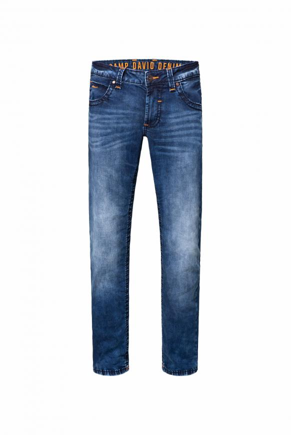 Jeans NI:CO mit dunkler Used-Waschung random blue