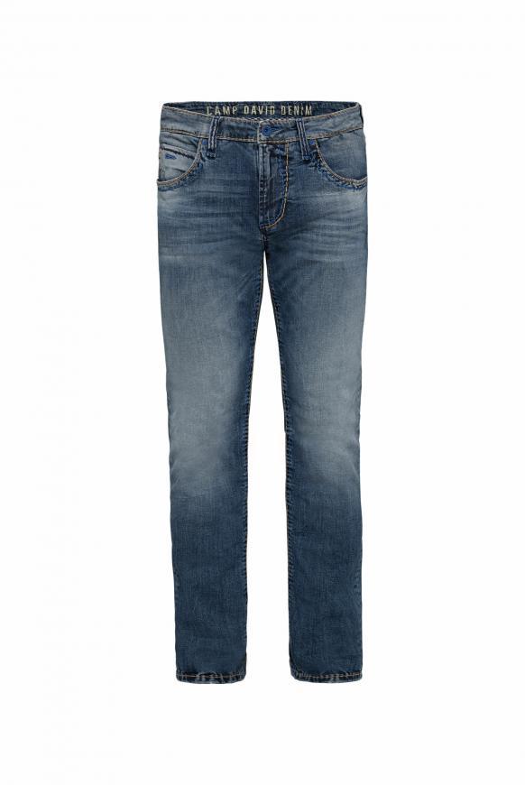 Jeans NI:CO mit farbigen Nähten dark used vintage