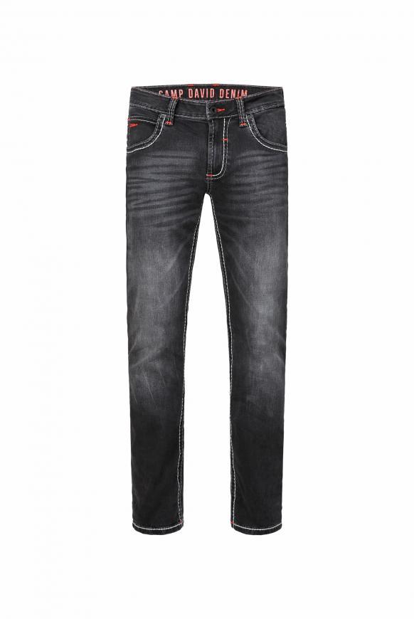 Jeans NI:CO mit Kontrastnähten anthra vintage
