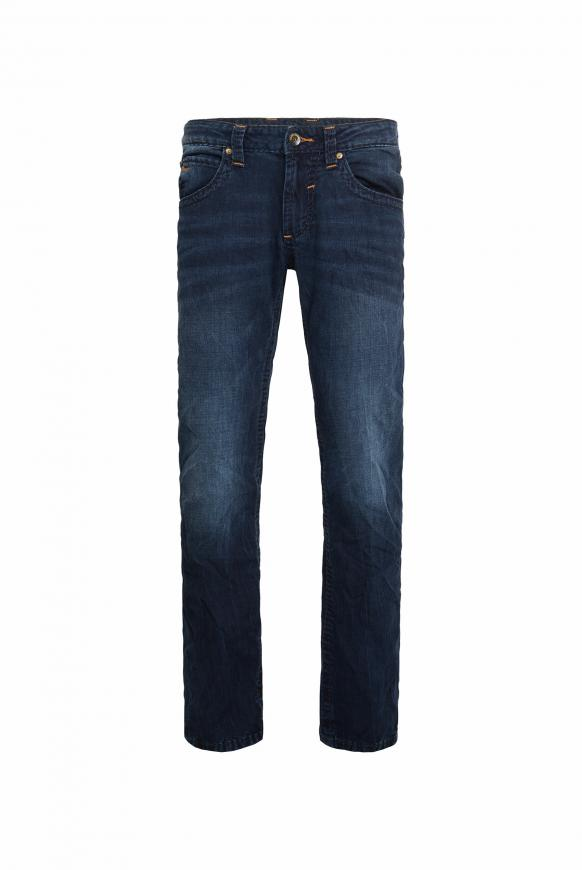 Jeans NI:CO mit tonigen Nähten Regular Fit blue black vintage