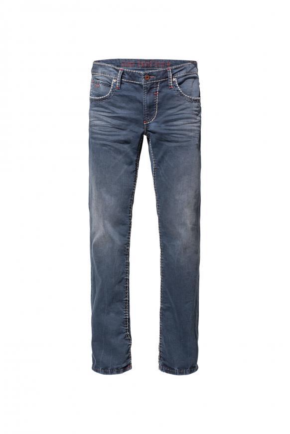 Jeans NI:CO mit Vintage-Waschung und breiten Nähten old blue used