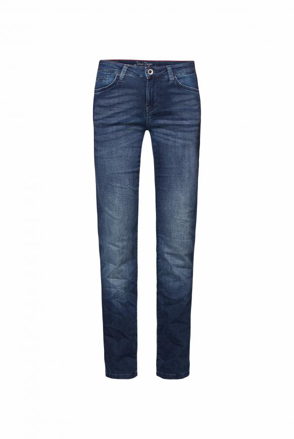 Jeans RO:MY aus Sweatmaterial in Denim-Optik dark blue jogg