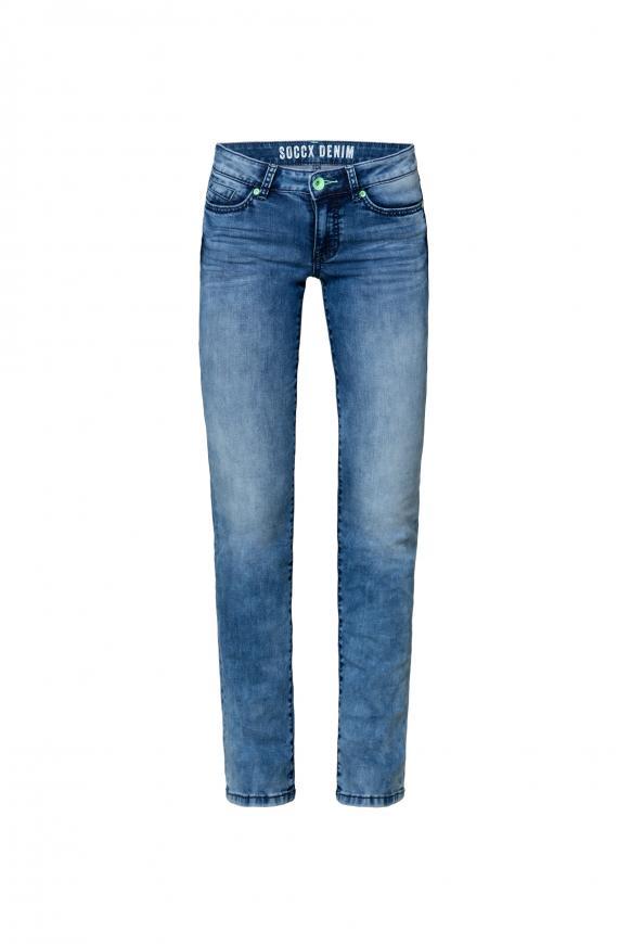 Jeans RO:MY mit Bleaching-Effekten sun used