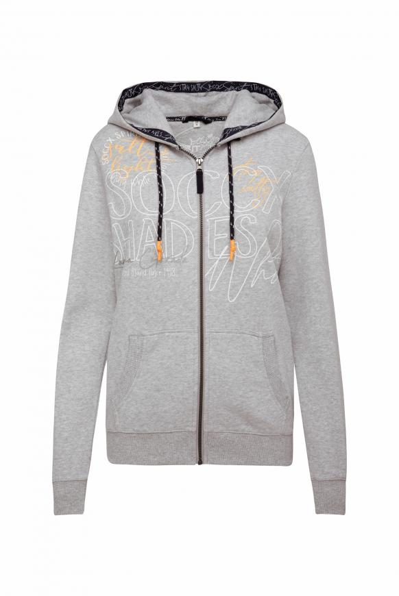 Kapuzenjacke mit Wording Prints