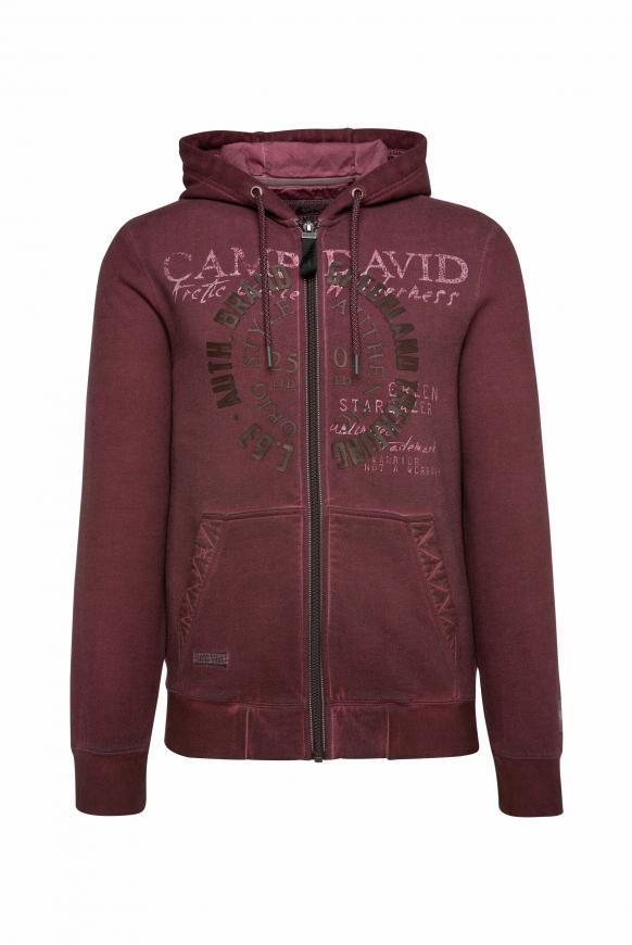 Kapuzenjacke Oil Dyed mit Logo Artworks rebel red