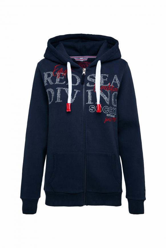 Kapuzensweatjacke mit Artworks deep sea