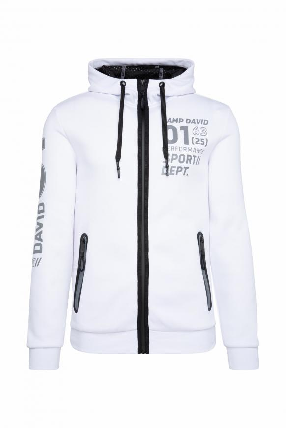 Kapuzensweatjacke mit Metallic Artworks opticwhite