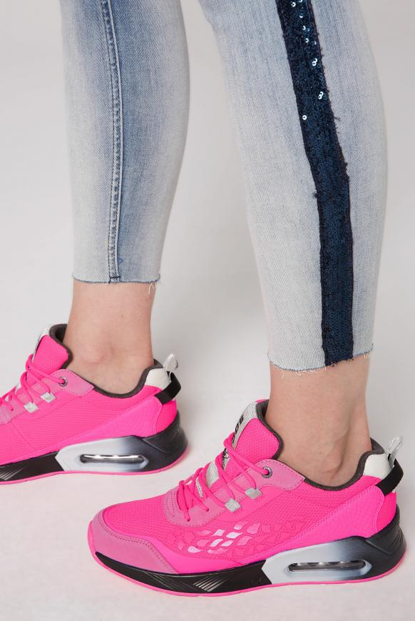 Keil-Sneaker mit Rubber Artwork knockout pink