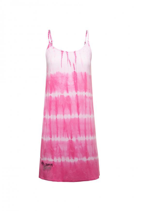 Kleid mit Farbeffekt und Spagetthiträgern lush rose