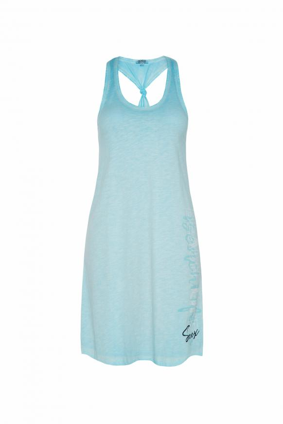Kleid mit Knoten-Detail am Rücken cool aqua