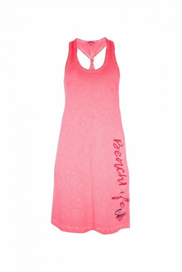 Kleid mit Knoten-Detail am Rücken neon rosa