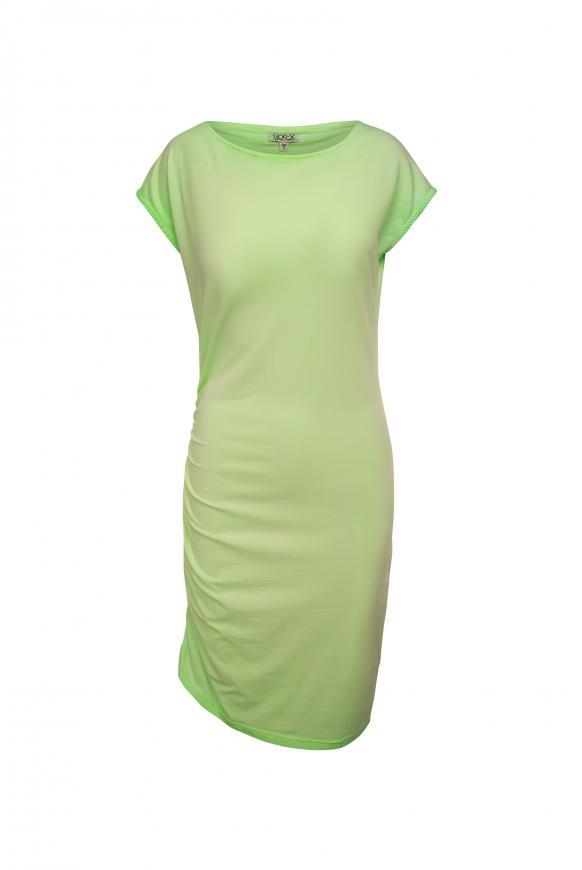 Kleid mit Seitenraffung und Back Artwork lemon drop