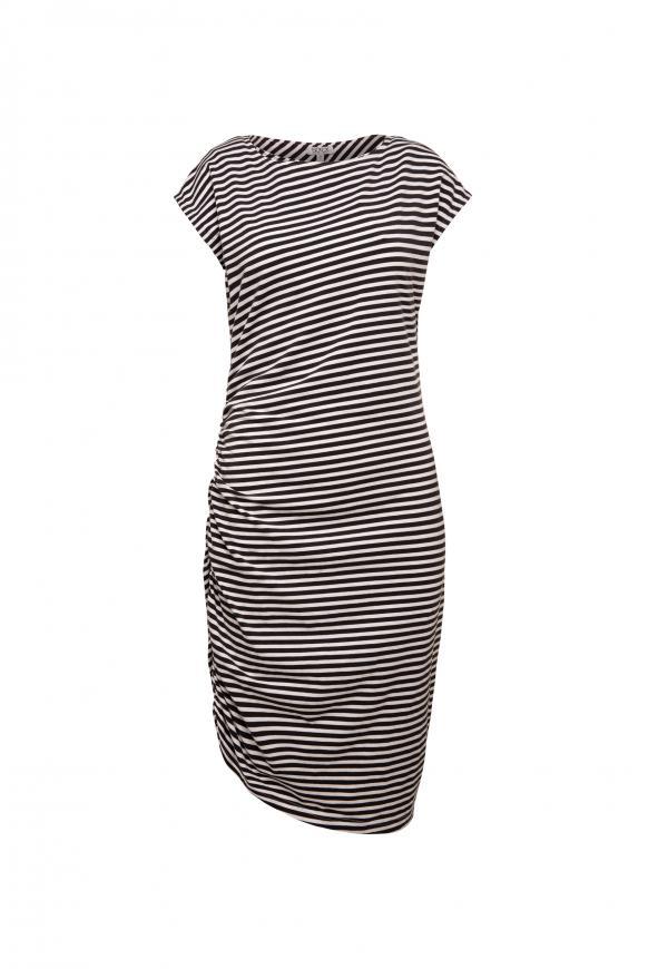 Kleid mit Seitenraffung und Back Artwork opticwhite / anthra