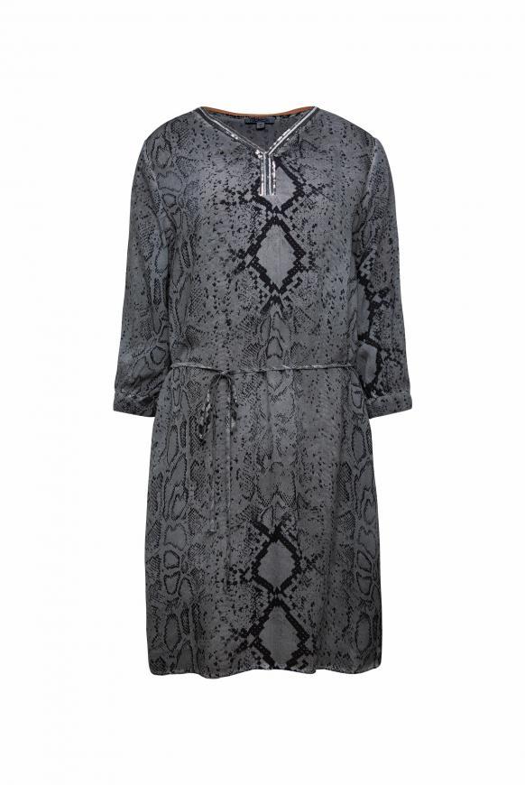 Kleid mit Snake Print und Pailletten asphalt