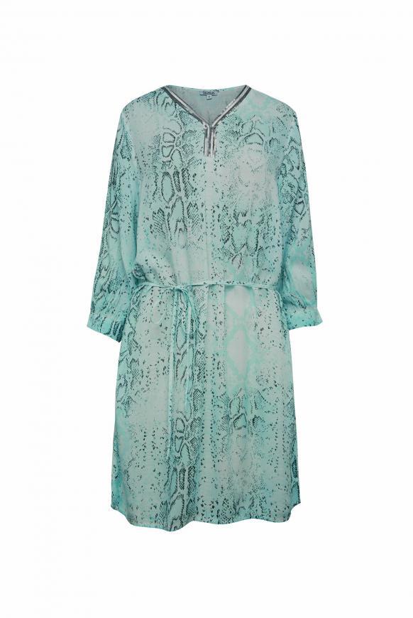 Kleid mit Snake Print und Pailletten bright mint