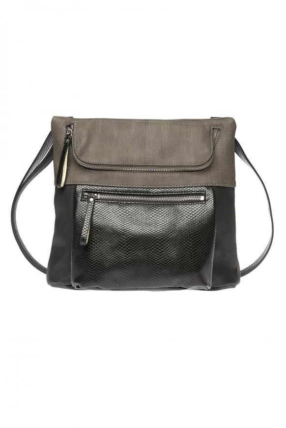 Kleine Crossbody Bag aus Kunstleder anthracite