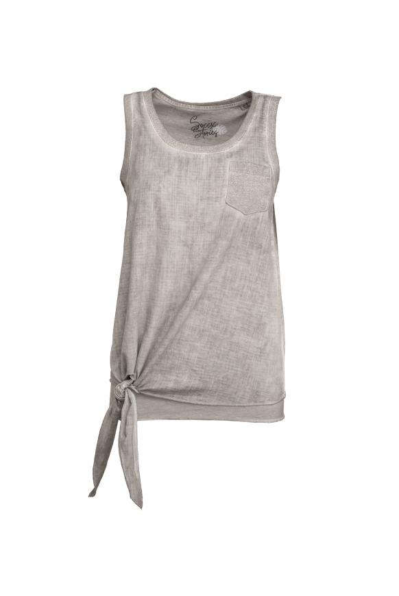 Knotensaumshirt mit Top im Set 2-tlg. light grey