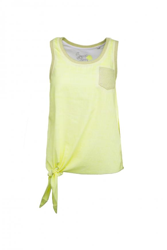 Knotensaumshirt mit Top im Set 2-tlg. yellow glow