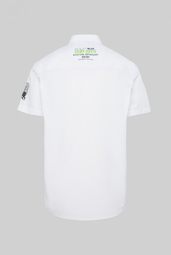 Kurzarmhemd mit Logo Artworks opticwhite