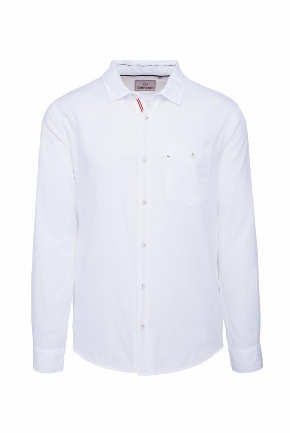 Langarmhemd mit Dobby-Struktur opticwhite