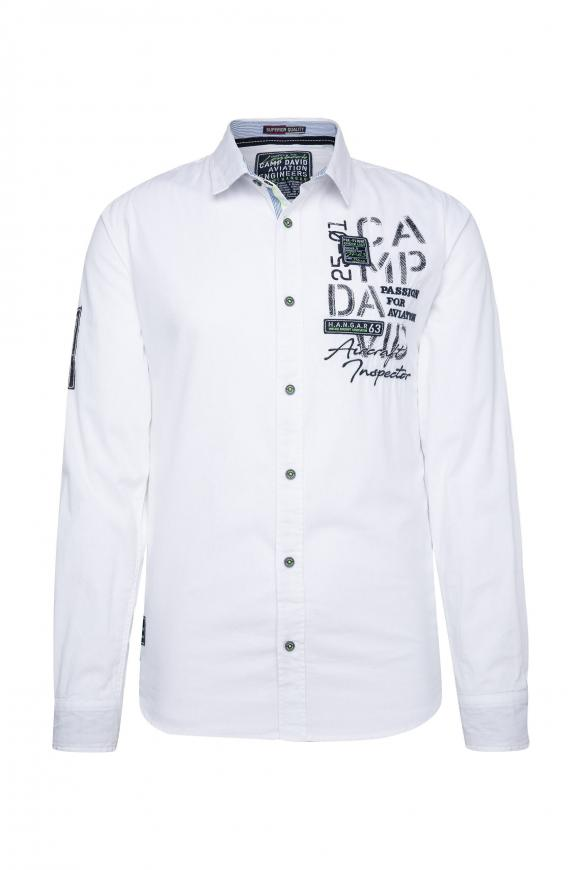 Langarmhemd mit Rücken-Artwork opticwhite