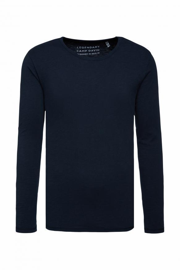 Langarmshirt aus Flammgarn absolute blue