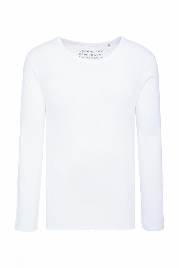 Langarmshirt aus Flammgarn opticwhite