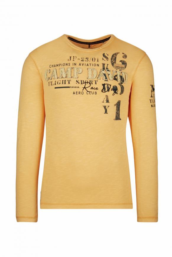 Langarmshirt mit Artworks und Tapes sunrise neon