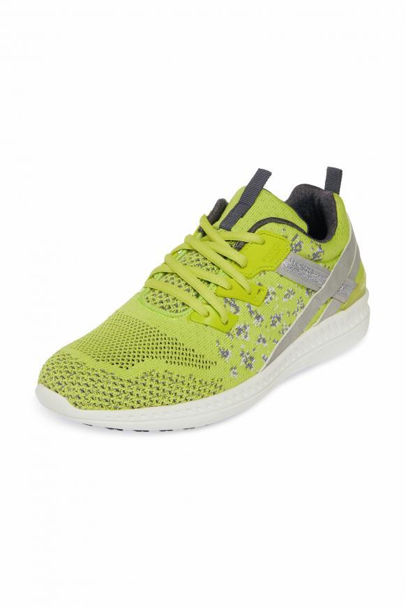 Leichter Sneaker mit Strick-Struktur white /yellow glow