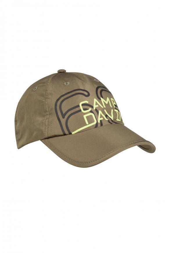 Leichtes Basecap mit Logo Print khaki