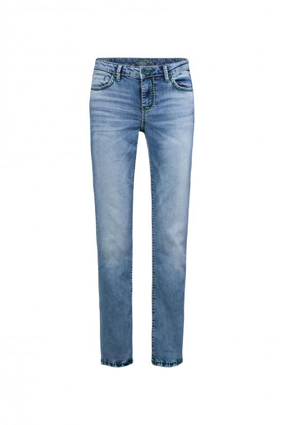 Light Used Jeans RO:MY mit geradem Bein light used vintage