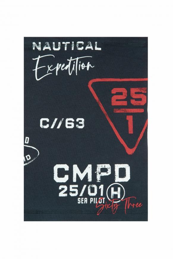Loop-Schal-Maske mit Logo Print blue navy