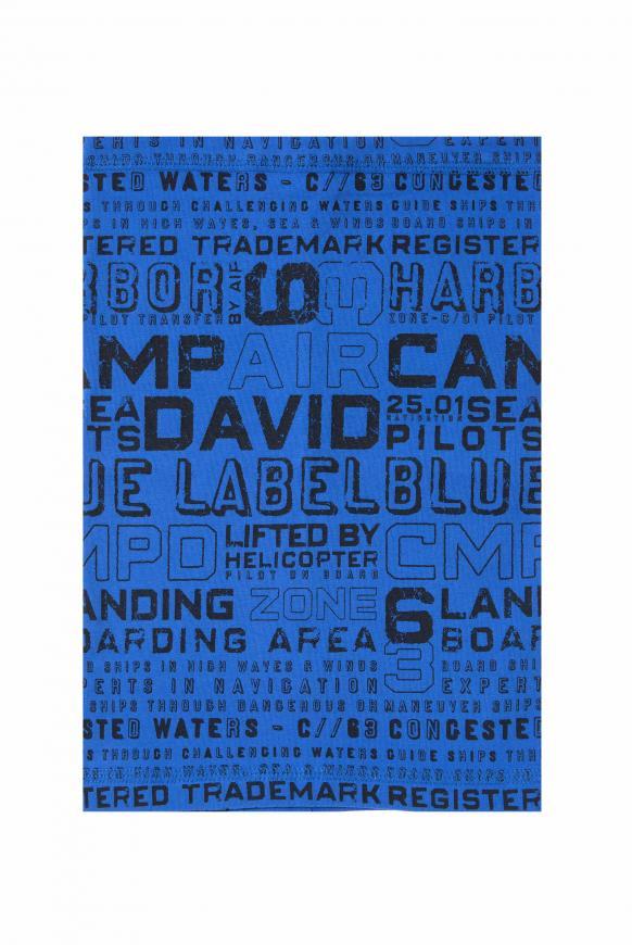 Loop-Schal mit Logo Print coastal blue