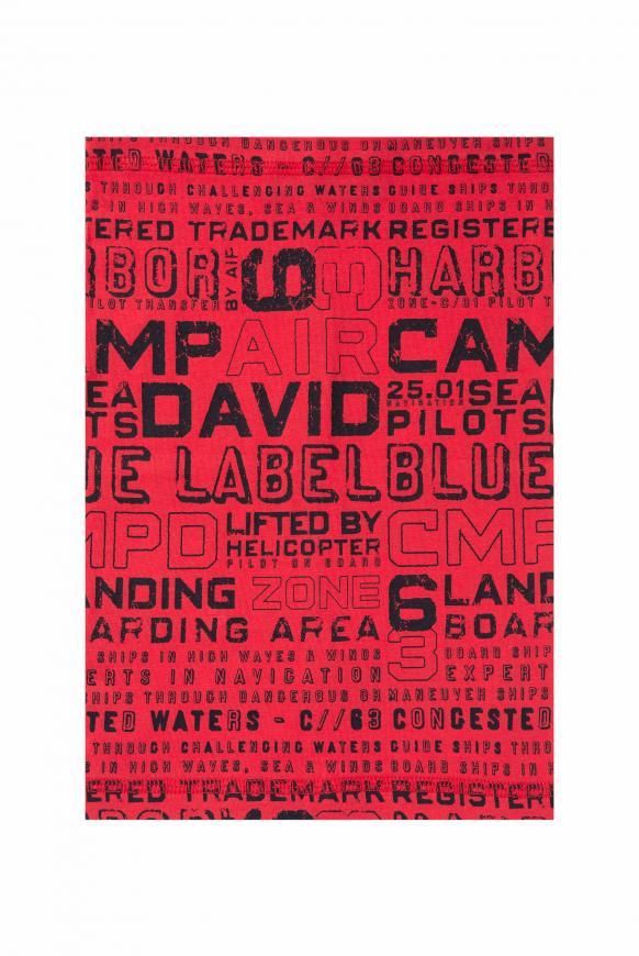 Loop-Schal mit Logo Print speed red