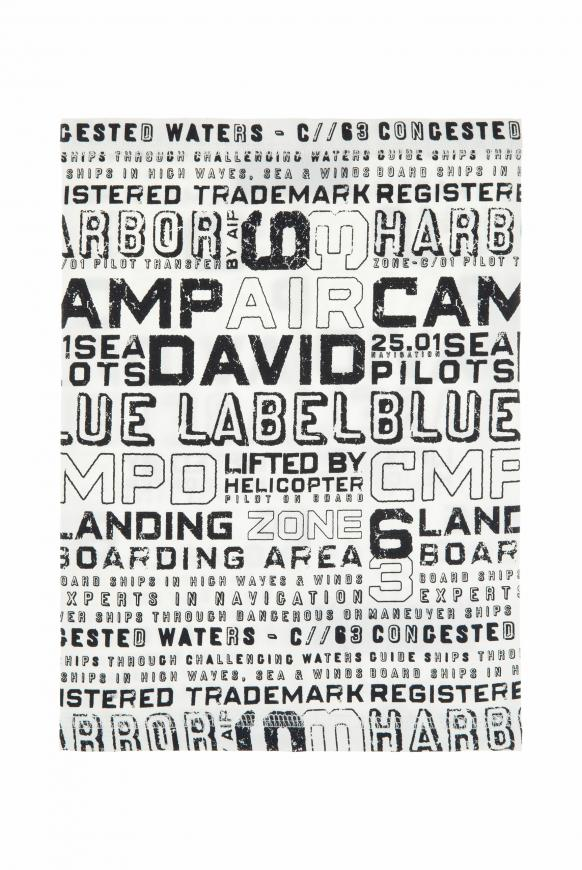 Loop-Schal mit Used Print offwhite