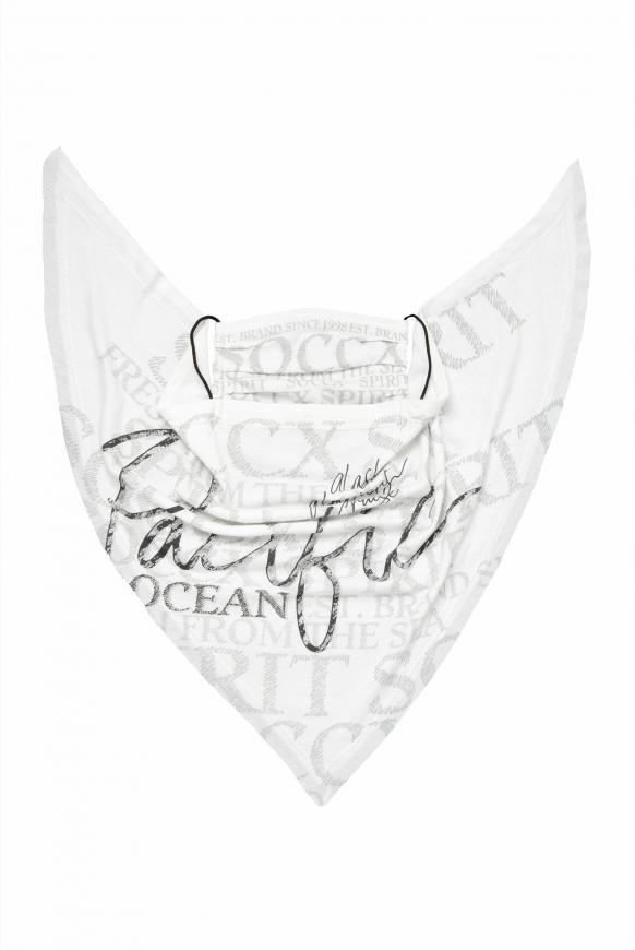 Maske mit Triangle-Tuch und Logo Artwork offwhite
