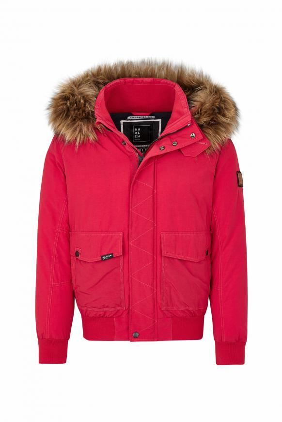 MEM-PHIS Winterjacke mit Kapuze flag red