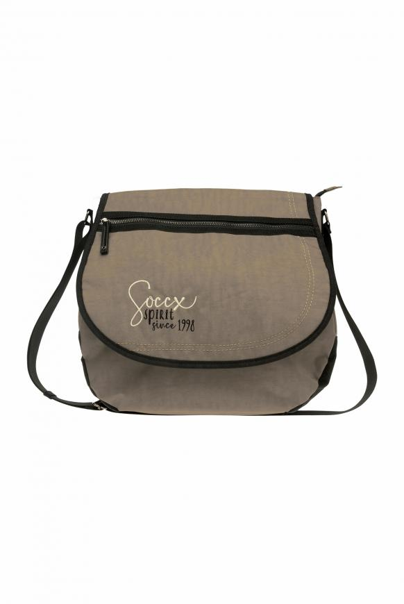 Messenger Bag aus Nylon mit Logo Artwork sand