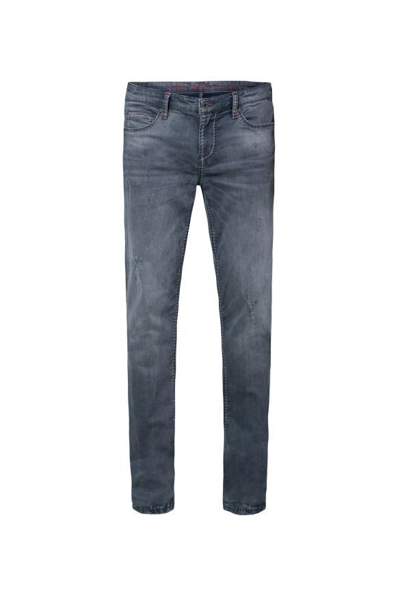 Mit gefärbter Innenseite und Destroys Jeans BR:AD grey aged