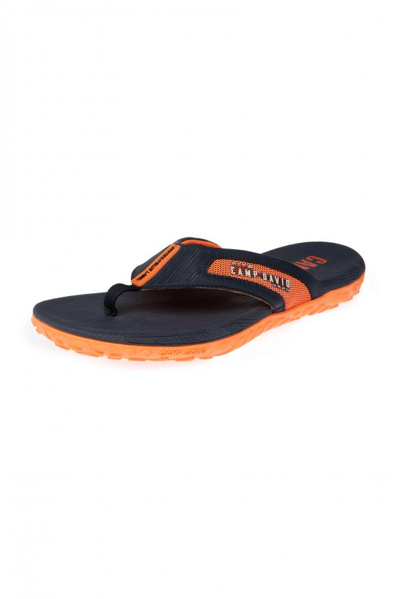 Moderner Beach Slipper mit Profilsohle blue navy