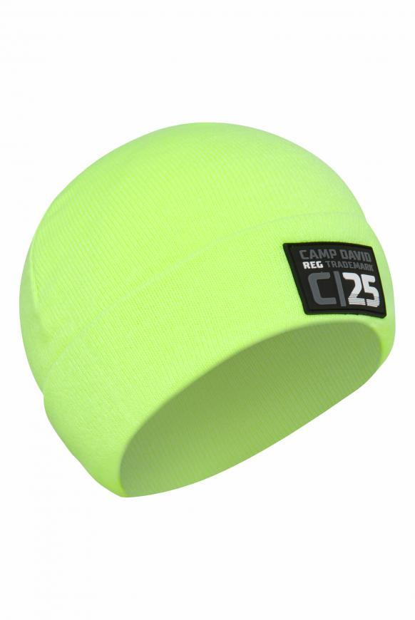 Mütze mit Rubber Patch neon lime