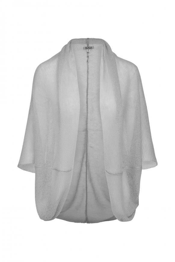 Offener Cardigan im Bolero-Stil light grey