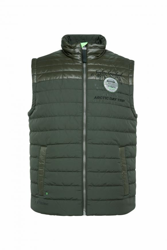 Outdoorweste mit Label-Applikationen green dawn