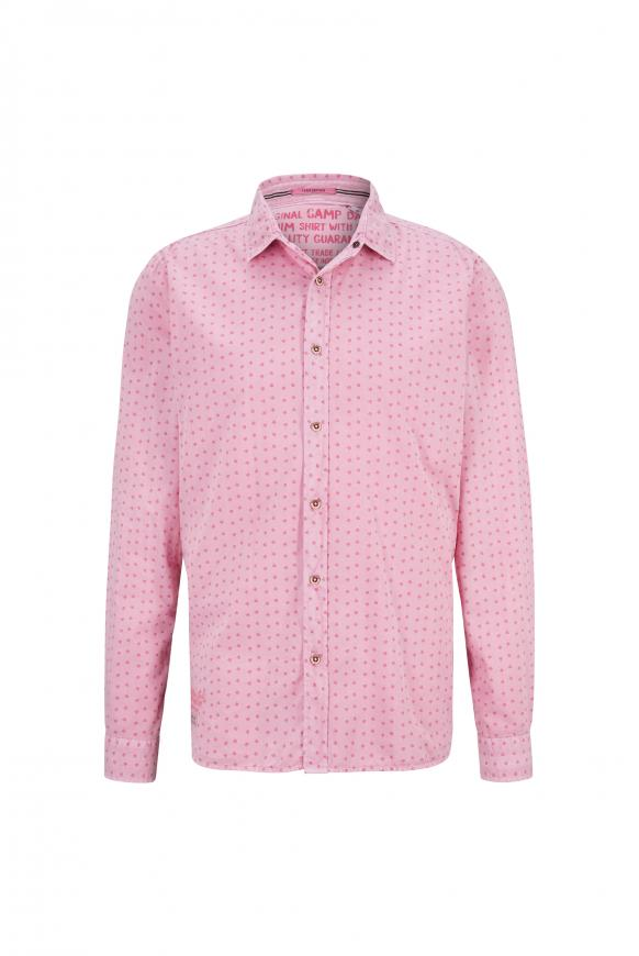 Oxford-Hemd mit All Over Print, Muscle Fit faded pink