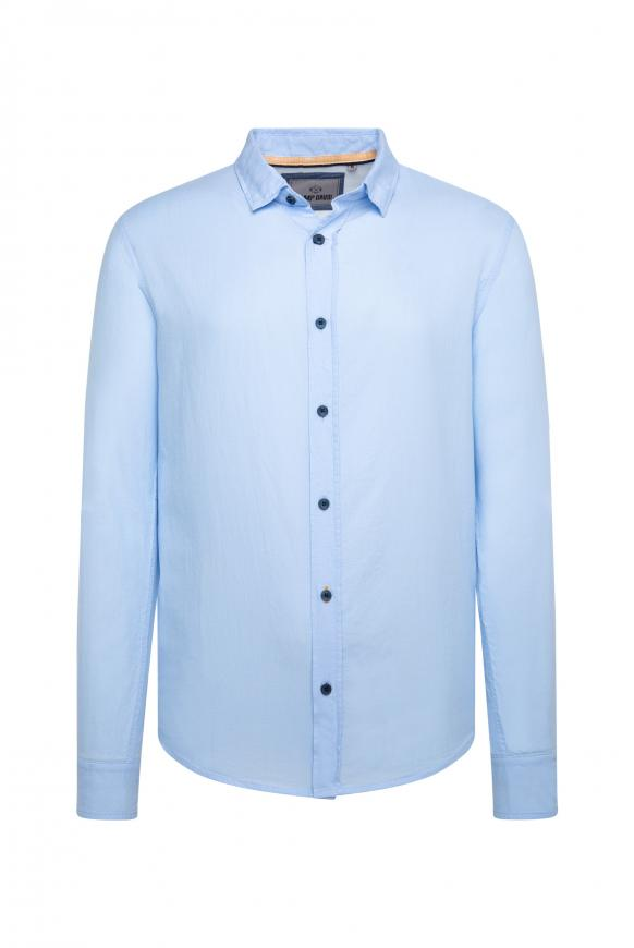 Oxford-Hemd mit Rücken-Print pale sky