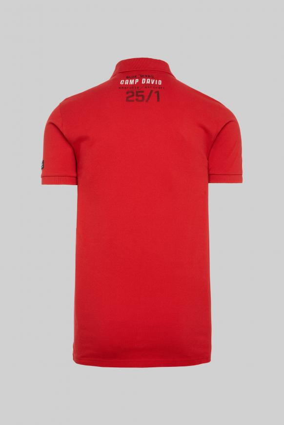 Pikee-Polo mit Logo Artworks shark red