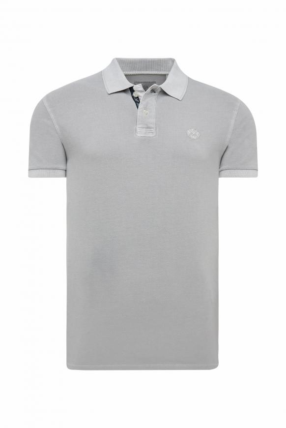 Piquee-Polo mit Used-Waschung polo grey